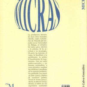 La escritura del pensamiento - MICRAS de José Calvo González, por Damaso Javier Vicente Blanco